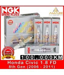 NGK Laser Iridium Spark Plug for Honda Civic 1.8 I-VTEC FD (8th Gen) - Long Life Spark Plug 100,000KM