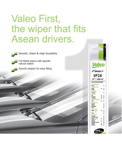 Valeo First Wiper Blade for Honda Stream - 1st Gen (2001 - 2006) (2pcs/set)