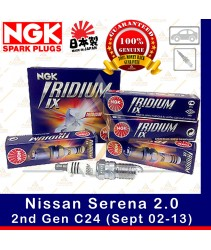 NGK Iridium IX Spark Plug for Nissan Serena 2.0 C24 (2nd Gen) (Sept 02 - 13)