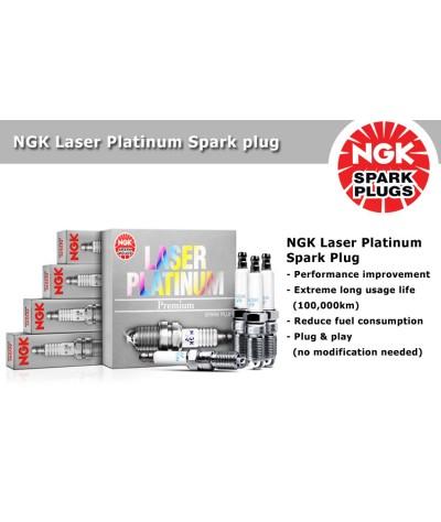 NGK Laser Platinum Spark Plug for Nissan Cefiro 2.0 V6 A33 (3rd Gen)