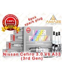 NGK Laser Platinum Spark Plug for Nissan Cefiro 3.0 V6 A33 (3rd Gen)