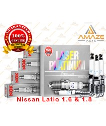 NGK Laser Platinum Spark Plug for Nissan Latio 1.6 & 1.8