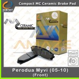 Compact MC Ceramic Brake Pad for Perodua Myvi 2005 - 2010 (Front)