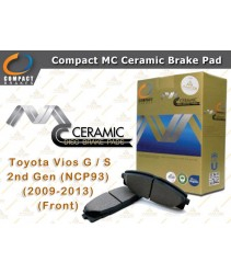 Compact MC Ceramic Brake Pad for Toyota Vios G / S 2nd Gen (NCP93) (2009-2013) (Front)