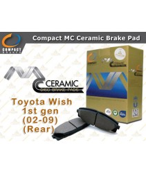 Compact MC Ceramic Brake Pad for Toyota Wish 1st gen (2002-2009) (Rear)