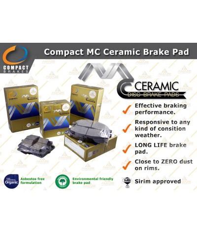 Compact MC Ceramic Brake Pad for Perodua Axia (2014-Current) (Front)
