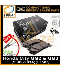 Compact Nano Infinity Brake Pad for Honda City GM2 & GM3 (2009-2014) (Front) - Ceramic Formula