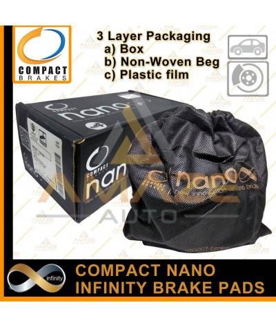 Compact Nano Infinity Brake Pad for Toyota Hilux 4WD KUN25 & KUN26 (05-12)(Front)