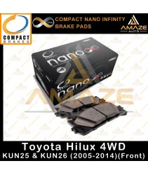 Compact Nano Infinity Brake Pad for Toyota Hilux 4WD KUN25 & KUN26 (05-12)(Front)