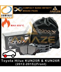 Compact Nano Infinity Brake Pad for Toyota Hilux 4WD KUN25R & KUN26R (12-15)(Front)