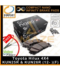 Compact Nano Infinity Brake Pad for Toyota Hilux 4WD KUN25R & KUN26R (12- )(Front)