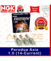 NGK Iridium IX Spark Plug for Perodua Axia 1.0 (14-Current) (3pcs/set)