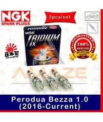 NGK Iridium IX Spark Plug for Perodua Bezza 1.0 (16-Current) (3pcs/set)