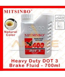 Mitsinbo Heavy Duty DOT 3 Brake Fluid (Natural Color) (700ml/btl)