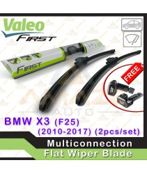 Valeo First Multiconnection Flat Wiper blade for BMW X3 F25 (10-17) (2pcs/set)