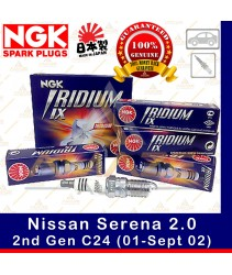 NGK Iridium IX Spark Plug for Nissan Serena 2.0 C24 (2nd Gen) (01-Sept 02)