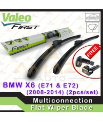 Valeo First Multiconnection Flat Wiper blade for BMW X6 E71 & E72 (08-14) (2pcs/set)