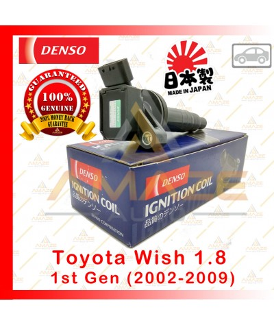 Denso Ignition Coil for Toyota Wish 1.8 1st gen (02-09) Made in Japan