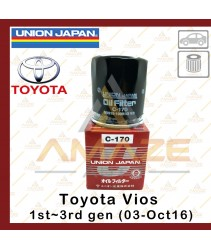Union Japan Oil Filter for Toyota Vios 1st Gen~3rd Gen (2003 - Oct 2016)
