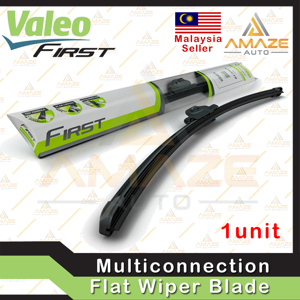 """Valeo First Multiconnection Flat Wiper blade size 14""""/16""""/17""""/18""""/19""""/20""""/21""""/22""""/24""""/26""""/28"""" (Single Blade)"""