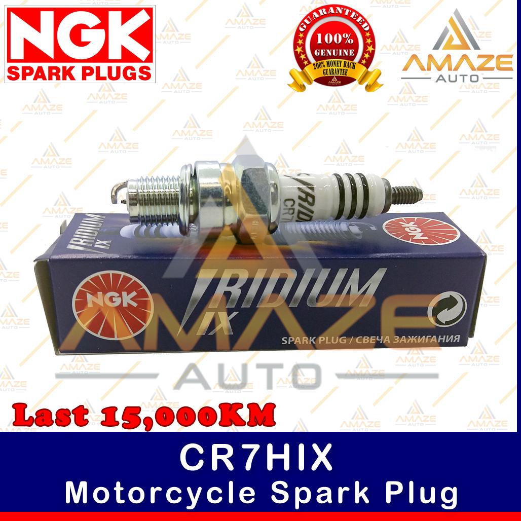 NGK Iridium IX Spark Plug CR7HIX - Last 15,000KM (Honda EX5, Wave, C70, Yamaha Avantiz, Ego S115, Lagenda, Modenas Kriss, MR1, MR2, Suzuki Shogun, Smash)