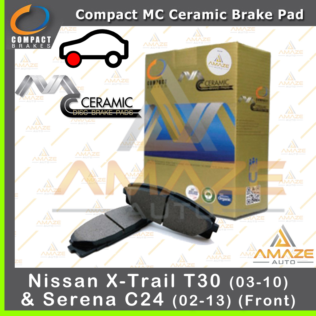 Compact MC Ceramic Brake Pad for Nissan X-trail T30 (03 - 10) & Serena C24 (02-13)(Front)