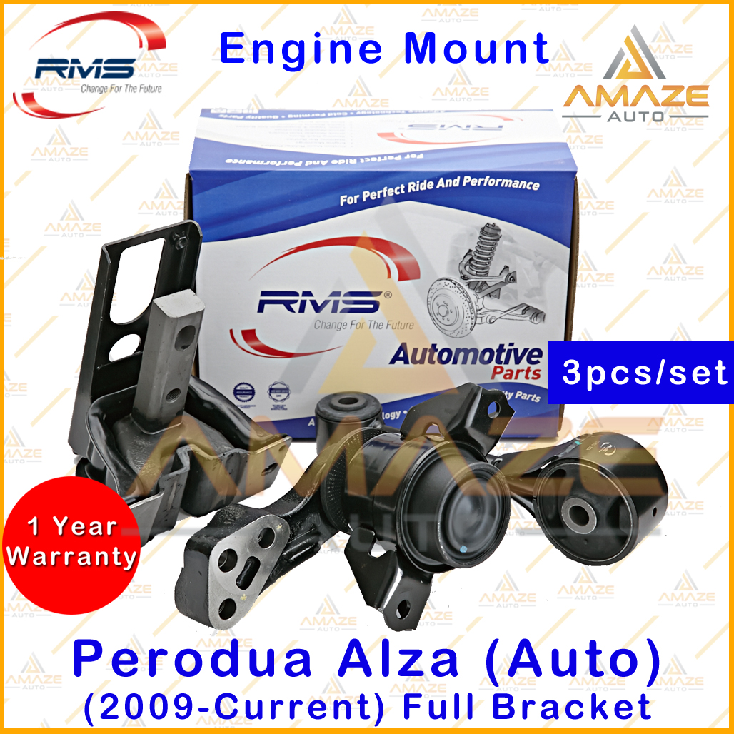 RMS Engine Mounting for Perodua Alza Auto (2009-Current) Full Bracket (3pcs/set) - Amaze Auto Parts
