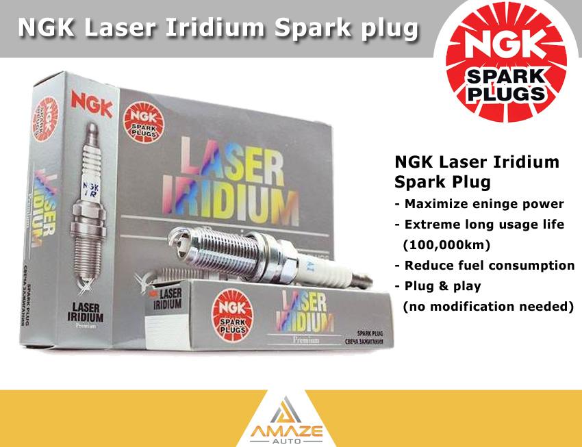 NGK Laser Iridium Spark Plug for Peugeot 3008 1.6 THP (2017-Current) - Amaze Autoparts