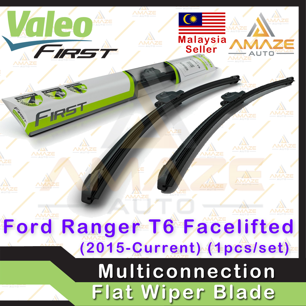 Valeo First Multiconnection Flat Wiper blade for Ford Ranger T6 Facelifted (15-Current) (2pcs/set)
