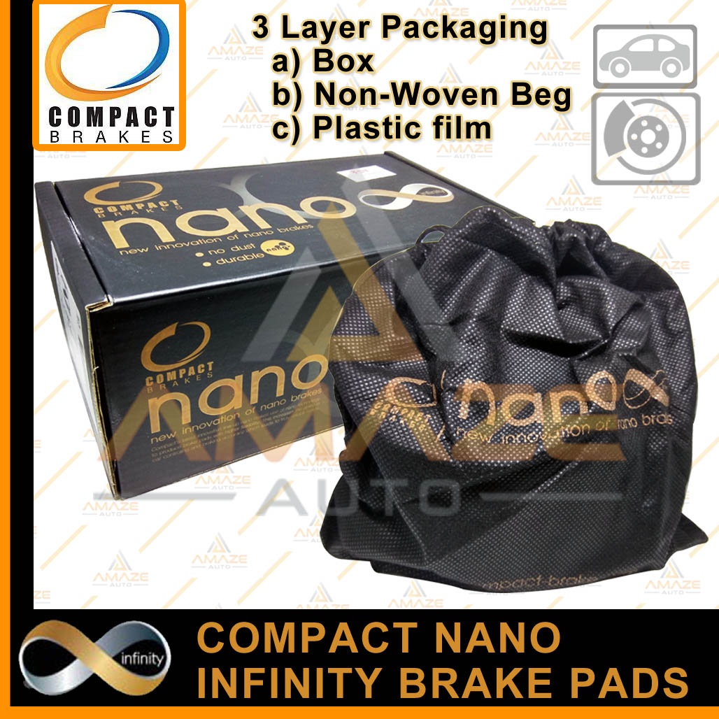 Compact Nano Infinity Brake Pad for Honda Civic ES 7th gen (00-05) (Rear) - Amaze Autoparts