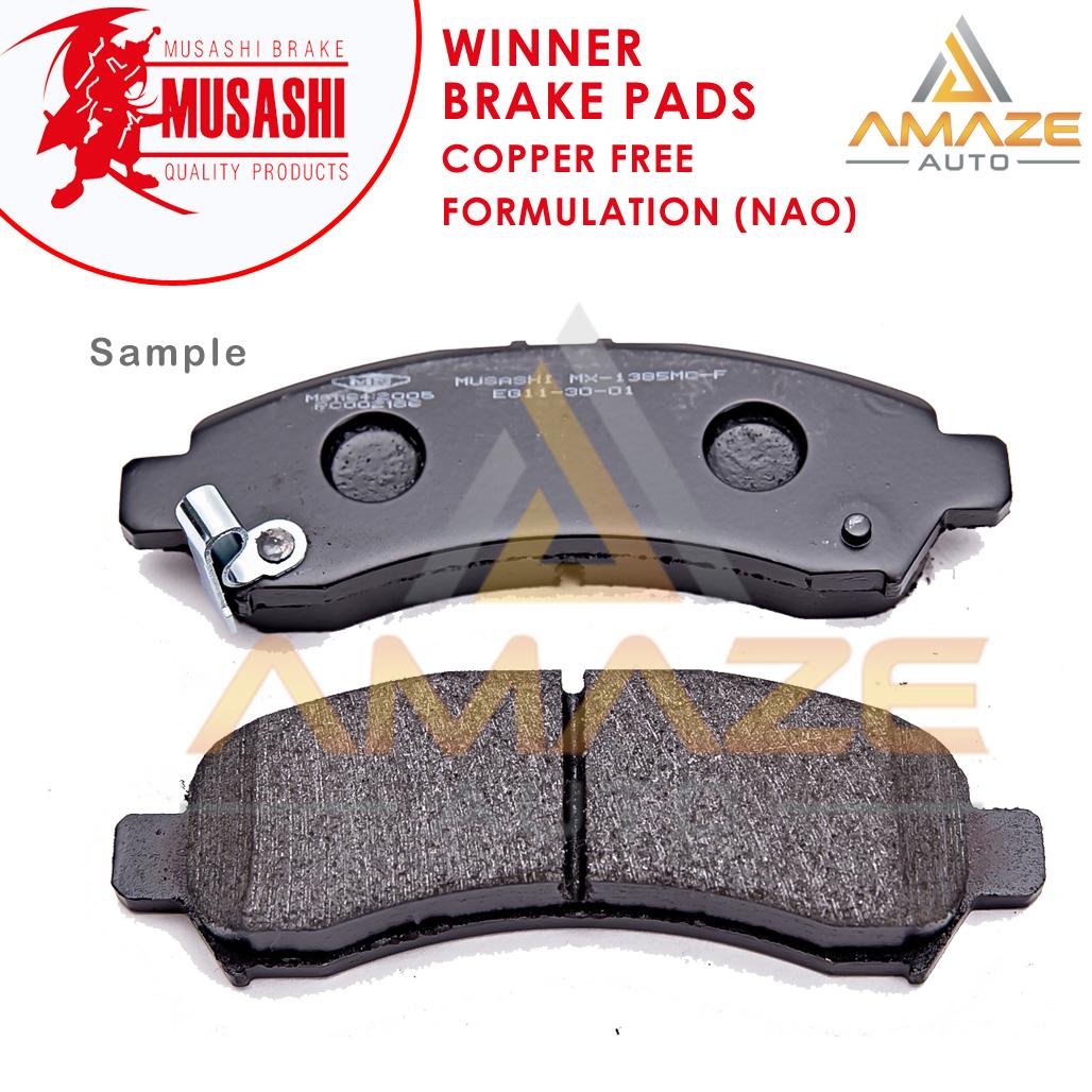 Musashi Winner Brake Pad (Copper Free NAO) for Hyundai Matrix (2001 - 2010) (Front)