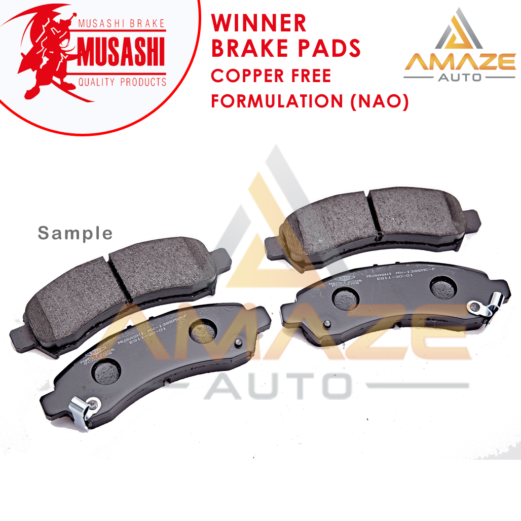 Musashi Winner Brake Pad (Copper Free NAO) for Perodua Viva (2007-2014) (Front)