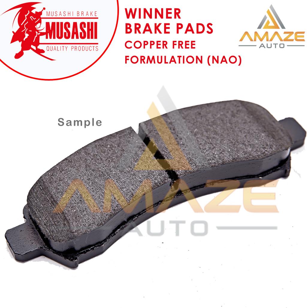 Musashi Winner Brake Pad (Copper Free NAO) for Proton Perdana 2.0 & 2.0 V6 (1st Gen) (Front)