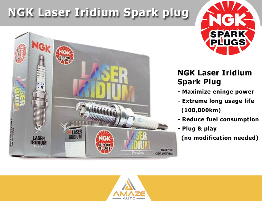 NGK Laser Iridium Spark Plug for Perodua Viva (850 & 1.0) - Longest Usage life and high performance