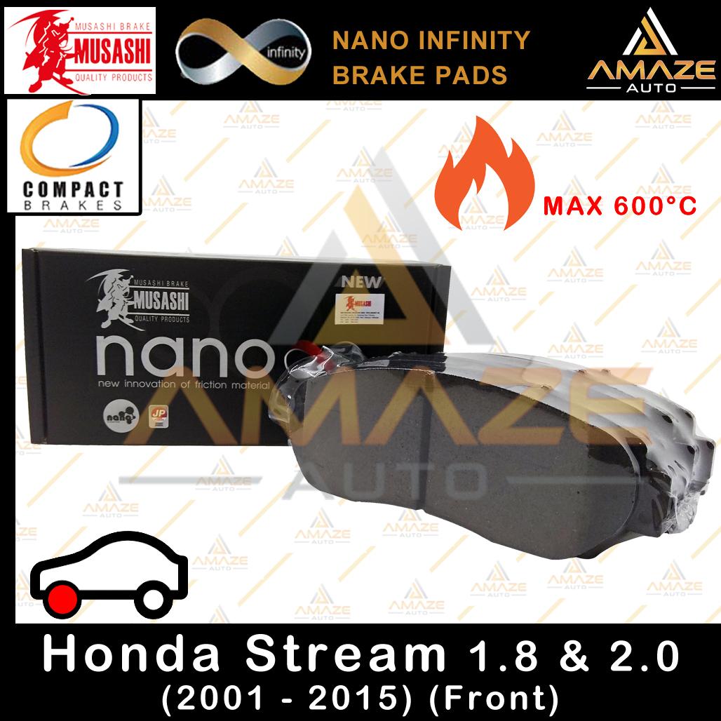 Musashi Nano Infinity Brake Pad for Honda Stream 1.8 & 2.0 (2001-2015) (Front)