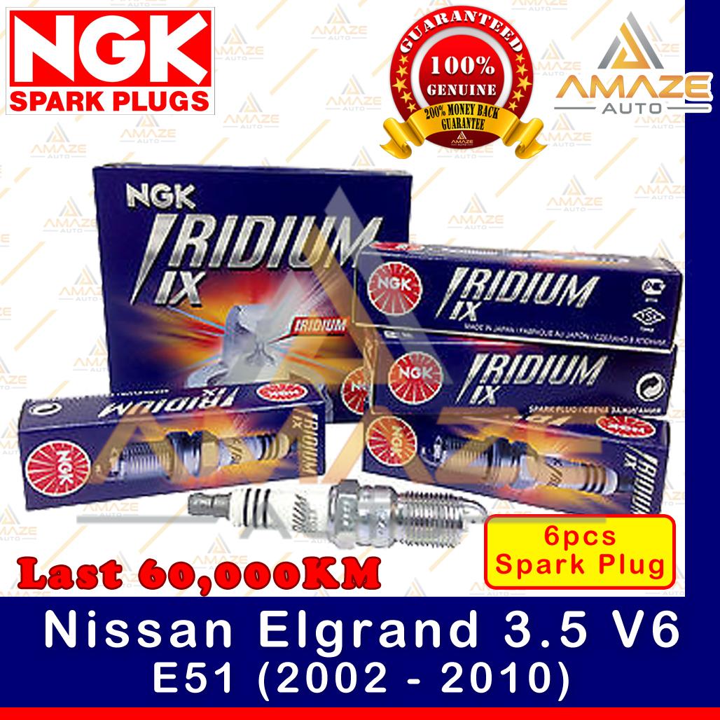 NGK Iridium IX Spark Plug for Nissan Elgrand 3.5 V6 E51 (2002 - 2010) - 60,000KM Iridium Spark Plug
