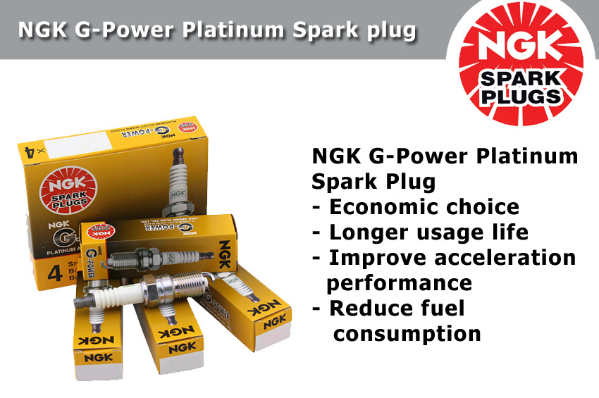 NGK G-Power Platinum Spark Plug for Perodua Myvi 1.3 & 1.5 (2007 - 2017)