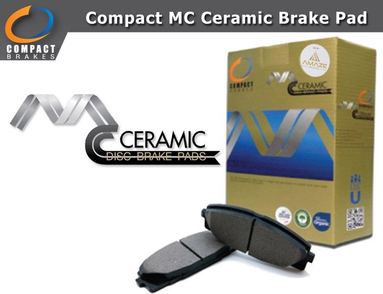 Compact MC Ceramic Brake Pad for Proton Persona (Front)