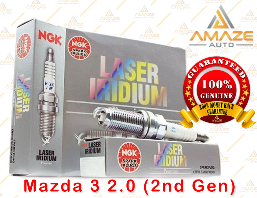 NGK Laser Iridium Spark Plug for Mazda 3 2.0 (2nd Gen)