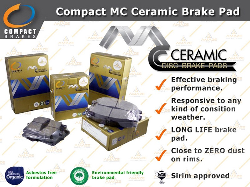 Compact MC Ceramic Brake Pad for Honda Jazz (2008 - 2013) (Front)