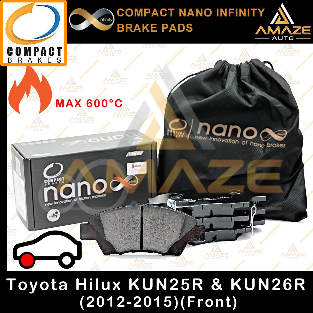 Compact Nano Infinity Brake Pad for Toyota Hilux 4WD KUN25R & KUN26R (12-15)(Front)