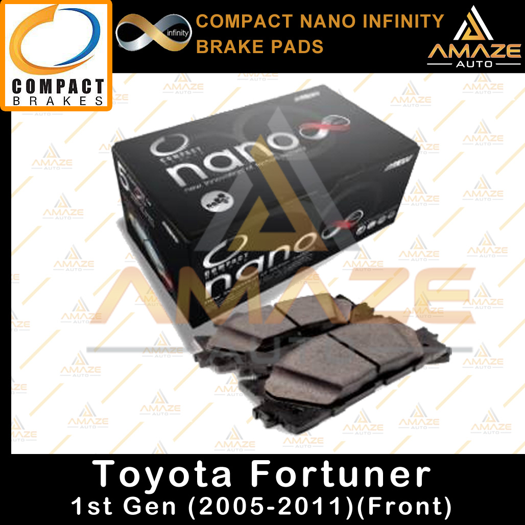 Compact Nano Infinity Brake Pad for Toyota Fortuner 1st gen (05-11)(Front)