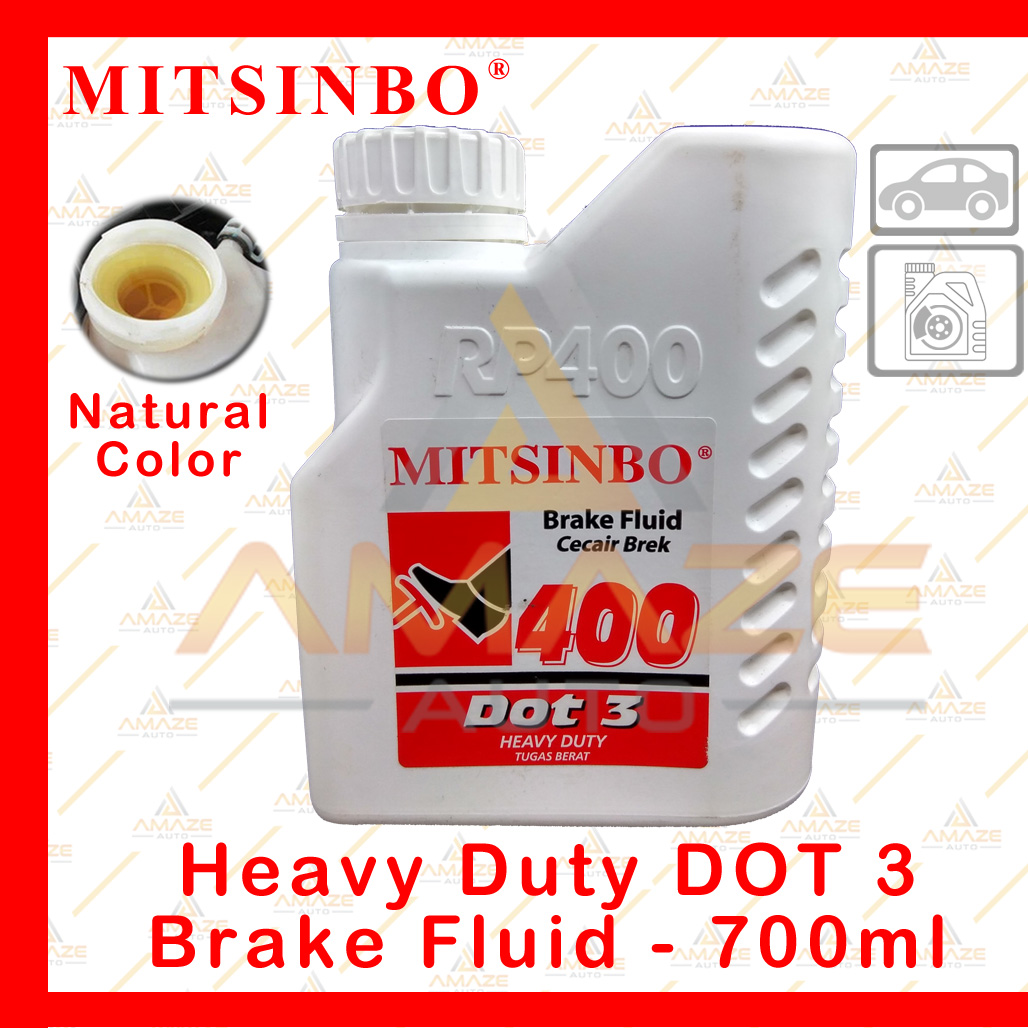 Mitsinbo Heavy Duty DOT 3 Brake Fluid (Natural Color ...