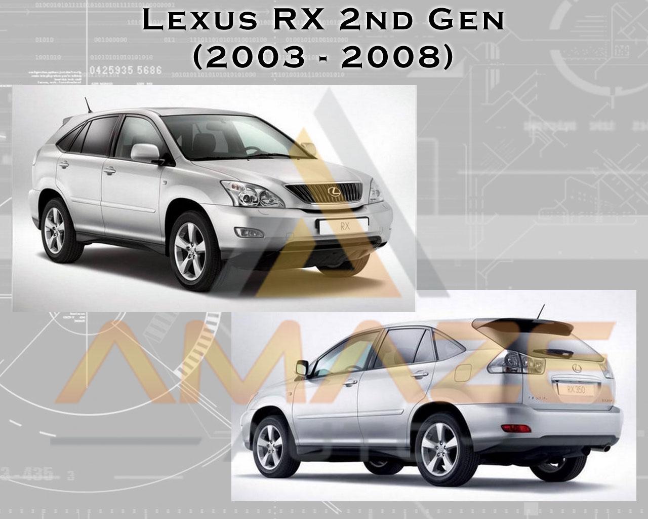 Compact Nano Infinity Brake Pad for Lexus RX330 & RX350 2nd gen (03 - 08)  (Rear)